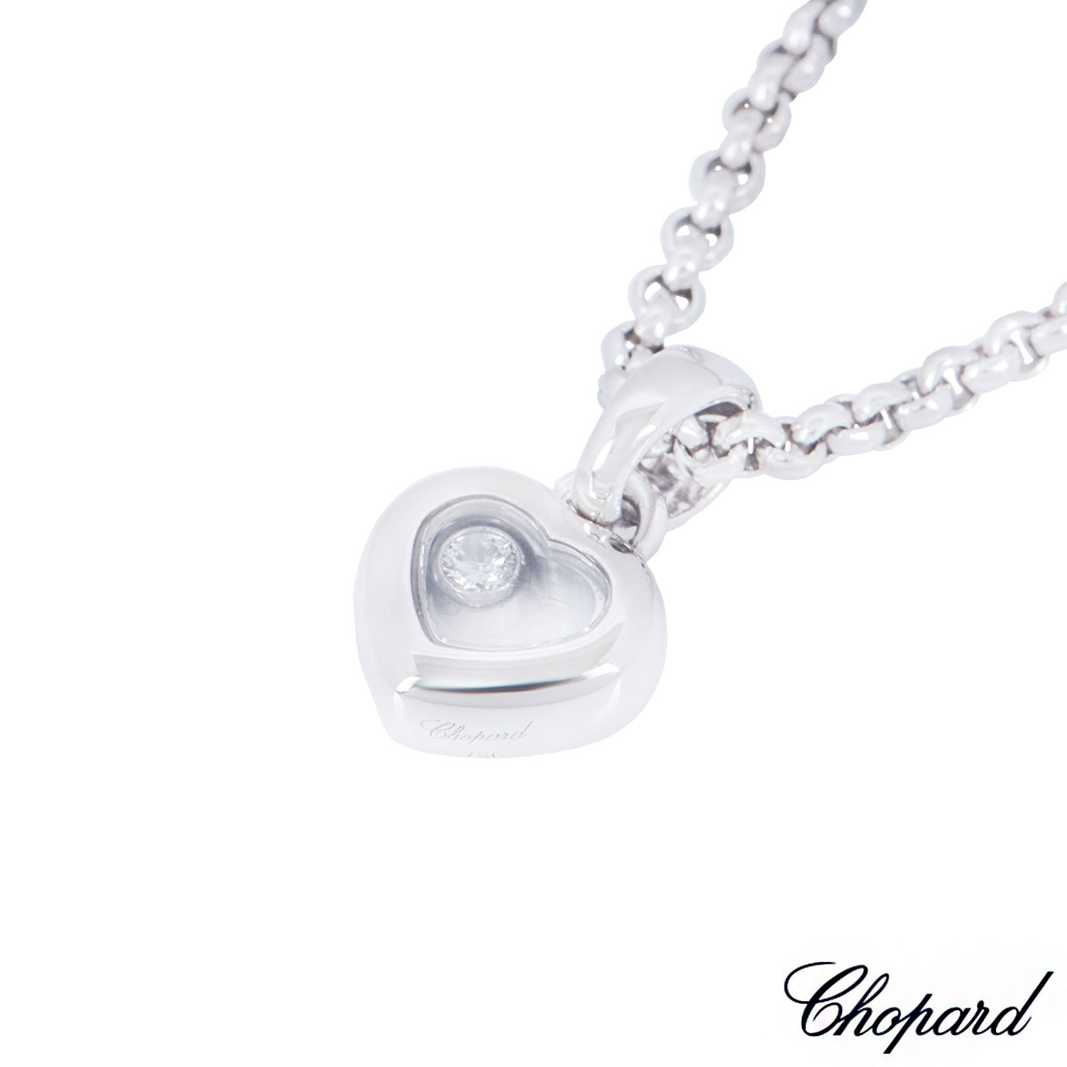 Chopard White Gold Happy Diamonds Necklace 79/4854